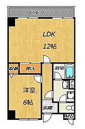 ベルビュー3番館[3階]の間取り