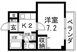 メゾントーマス[2階]の間取り