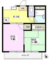 ヤマジンハイツIII[1階]の間取り