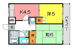 KT−14[3階]の間取り
