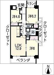 サーナ野並[5階]の間取り