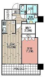 MJR赤坂タワー(407)[407号室]の間取り