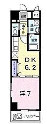 サニーヒル タマイ 4階1DKの間取り