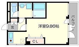 上新ビル上新庄[6階]の間取り