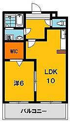 ポワールガーデン1[2階]の間取り