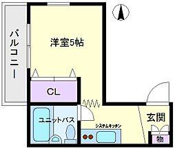 フローレンスマツバラ[3階]の間取り