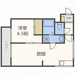 ロイヤルハイツ杉田[1階]の間取り