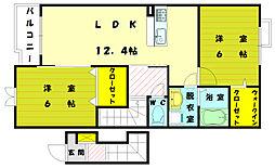 センターフィールド[2階]の間取り