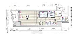 レグゼスタ京都駅西[6階]の間取り