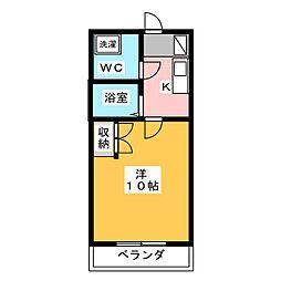 ヴィラージュII[3階]の間取り