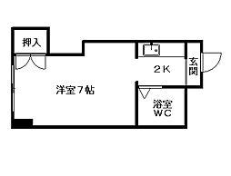 クィーン南5条[3階]の間取り