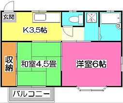 ガーデンフォレスト新所沢[2階]の間取り