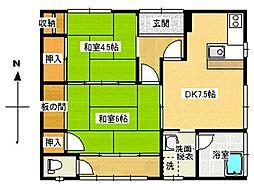 [一戸建] 長野県松本市城東2丁目 の賃貸【長野県 / 松本市】の間取り