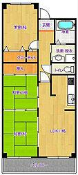 サーパス西津田II[809号室]の間取り