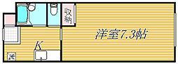 東京都品川区西大井3丁目の賃貸アパートの間取り