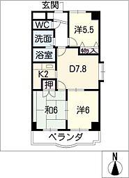 メゾン五反田[5階]の間取り