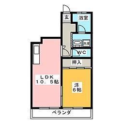 ハイツ河田[2階]の間取り