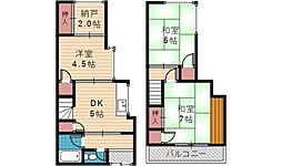 霞ヶ丘1丁目テラスハウス[1号室号室]の間取り
