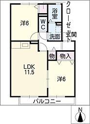 エンジェルV B棟[2階]の間取り