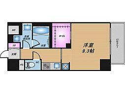 エステムコート新大阪Xザ・ゲート 10階1Kの間取り