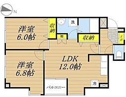 埼玉県さいたま市桜区西堀10丁目の賃貸マンションの間取り