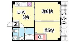 四国ビルマンション[4F号室]の間取り