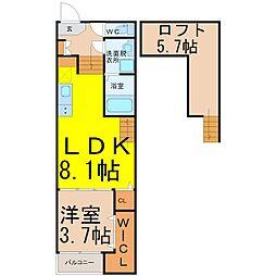 尾頭橋三丁目新築デザイナーズ(オトウバシサンチョウメシンチク[1階]の間取り