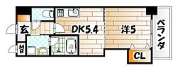 THE SQUARE Platinam Residence[8階]の間取り