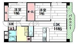 リテラシー江坂ビル[3階]の間取り