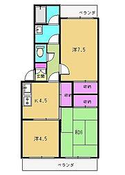 桐華マンション[2階]の間取り