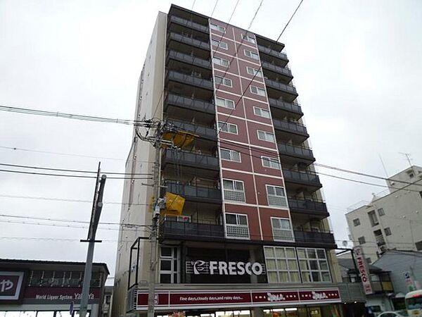 京都府京都市中京区聚楽廻東町の賃貸マンションの外観
