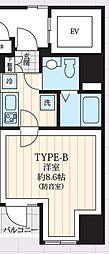 東京メトロ日比谷線 築地駅 徒歩9分の賃貸マンション 7階1Kの間取り