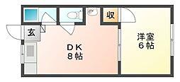 コーポ日総B[2階]の間取り
