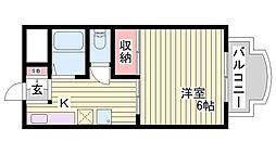 ウィンダム妙法寺壱番館[2階]の間取り