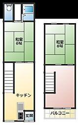 [タウンハウス] 大阪府守口市寺方元町1丁目 の賃貸【/】の間取り