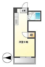ビラ三秀鶴舞[4階]の間取り
