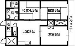 横川ラックビル[2階]の間取り