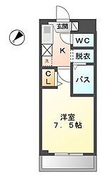 愛知県稲沢市北市場町東玄野の賃貸アパートの間取り