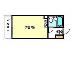ドムス河内長野[4階]の間取り