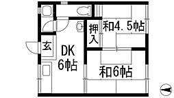 エスト多田[1階]の間取り