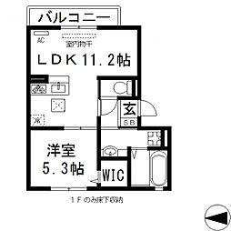 サフィールK[102号室号室]の間取り