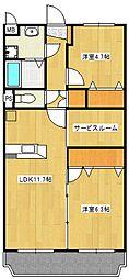 Y・Kストーク[1階]の間取り