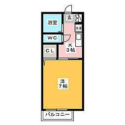 リバーサイド芦原[1階]の間取り