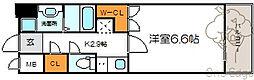 メロディア新北野[3階]の間取り