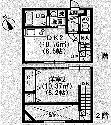 京都府京都市東山区梅宮町の賃貸アパートの間取り