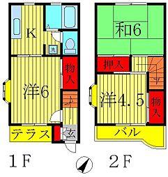 [テラスハウス] 千葉県柏市十余二 の賃貸【/】の間取り