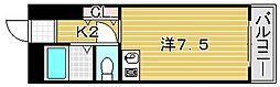 大阪府吹田市高城町の賃貸マンションの間取り