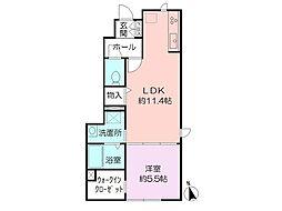 Sala Grato 鶴ヶ峰I[101号室]の間取り