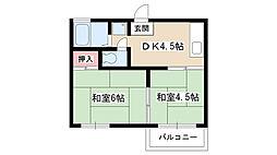 愛知県日進市梅森台5丁目の賃貸アパートの間取り