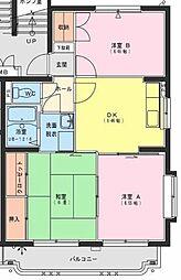 ジェネシス大島D[105号室]の間取り